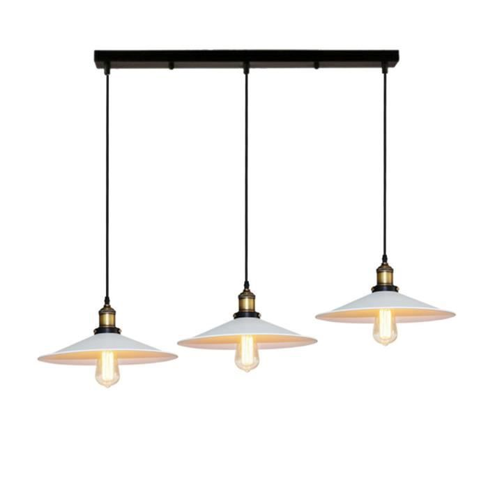 Suspension Adjustable Blanc Exbon Luminaire Corde Métal Barre E27 Lustre OPZikXwuT