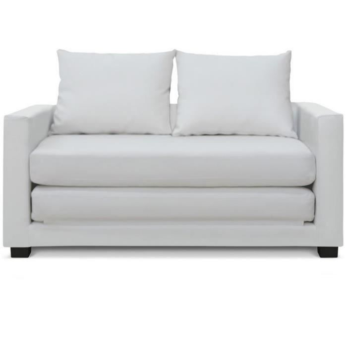 canap lit d plimousse cosi blanc achat vente canap sofa divan cdiscount. Black Bedroom Furniture Sets. Home Design Ideas