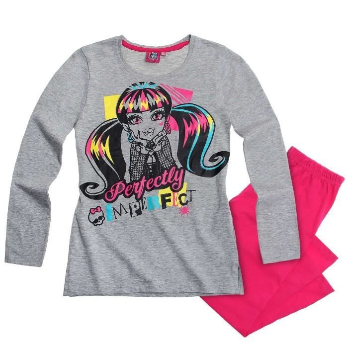 pyjama monster high 12 ans gris achat vente chemise de. Black Bedroom Furniture Sets. Home Design Ideas