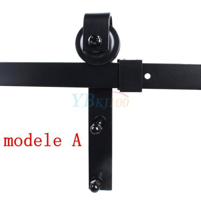 1.83m/2m Tringle Rail Porte Coulissante Suspendu Roue De Poulie De Rail De Porte  Suspendus