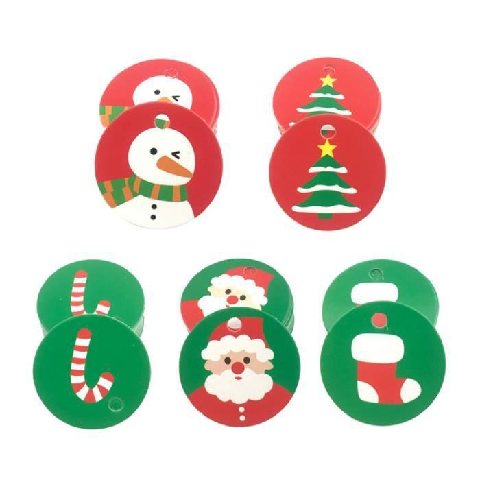 15 Argent Paillettes Arbre de Noël Cadeau Étiquettes Nom étiquettes cadeau 300 cm chaîne