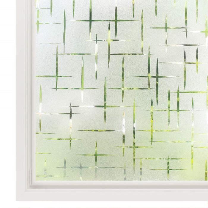 Premium Floral élégant en verre coloré deco vinyle La Vie Privée Statique Film De Fenêtre