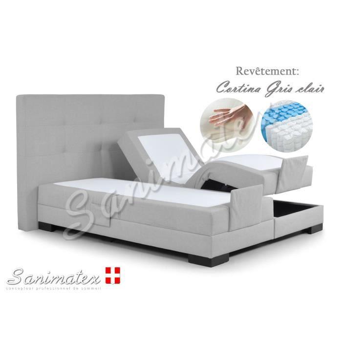 lit electrique boxspring 180x200 guatemala amazonia taupe achat vente lit complet lit. Black Bedroom Furniture Sets. Home Design Ideas