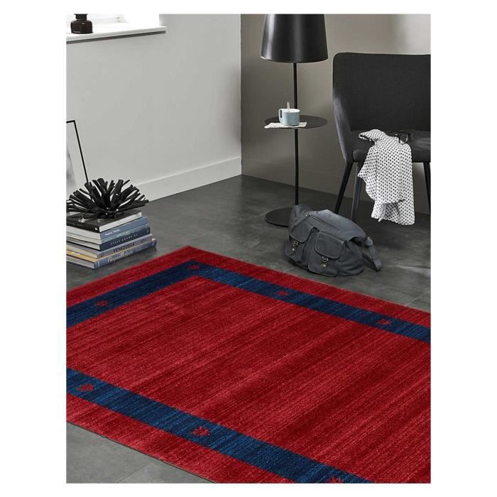 tapis tapis moderne en polypropylene chobay 5 rouge 100x150 par unamourdetapis 100 x 150 cm. Black Bedroom Furniture Sets. Home Design Ideas