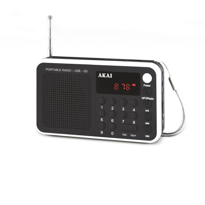 akai ar 68kw transistor radio portable noir et bla radio cd cassette avis et prix pas cher. Black Bedroom Furniture Sets. Home Design Ideas