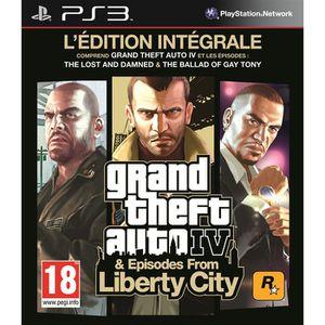 JEU PS3 GTA IV Edition Intégrale PS3