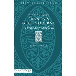 LIVRE LANGUES RARES Dictionnaire francais-grec moderne à l'usage des f