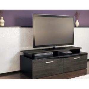 meuble tele wenge achat vente meuble tele wenge pas cher cdiscount. Black Bedroom Furniture Sets. Home Design Ideas