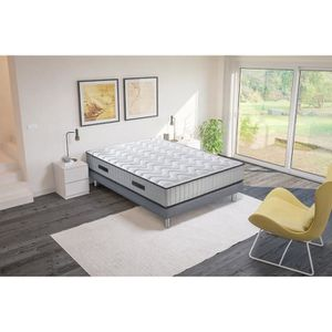 ENSEMBLE LITERIE HOTEL ROYAL Ensemble matelas + sommier pin massif
