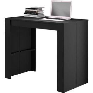 TABLE À MANGER SEULE Table de salle à manger extensible, coloris Noir -