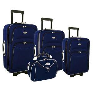 SET DE VALISES Lot 3 valises + 1 Vanity Coque Bleu