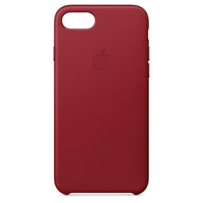 APPLE Coque en cuir pour iPhone 8 / 7 - RougeCOQUE TELEPHONE - BUMPER TELEPHONE