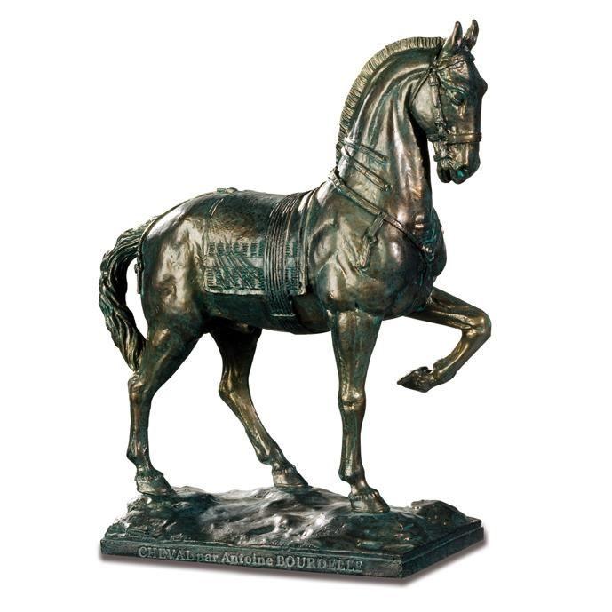 katerina prestige Reproduction Statue Cheval d'Antoine Bourdelle Coloris Bronze Vert 17/10,5/6 cm …