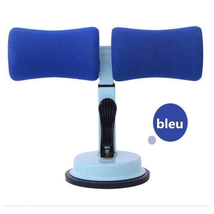 Ventouse Sit-Up Aide Abdominal abdos Équipement de fitness Appareil d'assistant Hauteur réglable Bleu