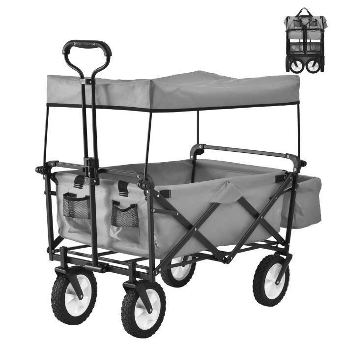 Charrette de Transport Pliable Chariot de Plage Chariot de Jardin Charrette de Jardin Chariot de Transport