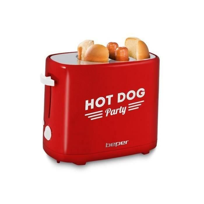 BEPER 90488 Machine à hot dog - Rouge