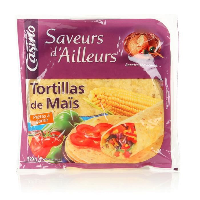 CASINO SAVEURS D'AILLEURS Tortillas de maïs - 320 g