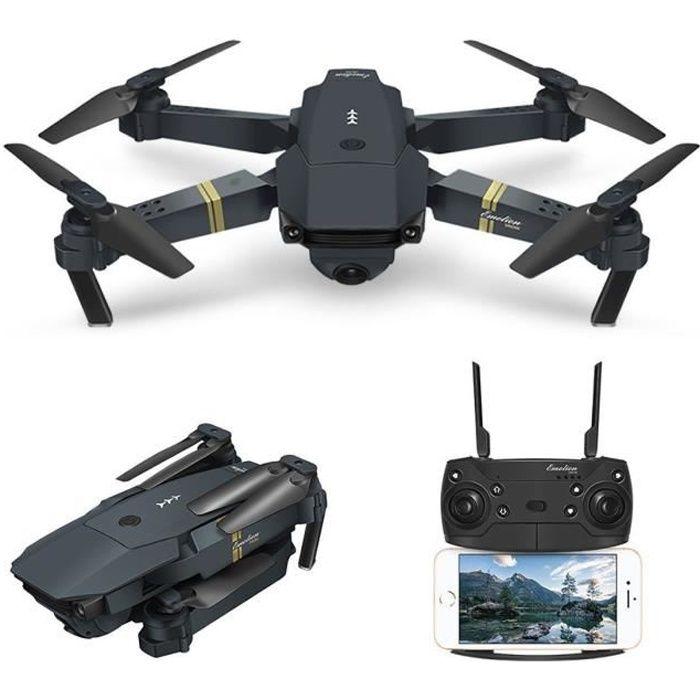 EACHINE Drone E58 - Wifi RC - 2MP 720P  - Caméra grand angle - 3 batteries