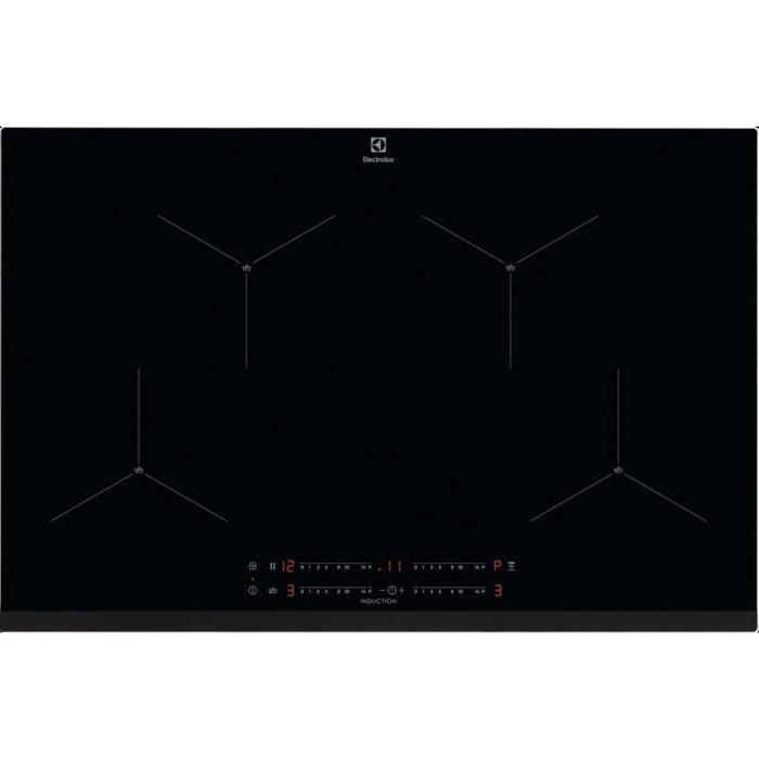 ELECTROLUX EIS824 SenseBoil - Table de cuisson Induction - 4 foyers - 7350W - L78 x P52cm - Noir