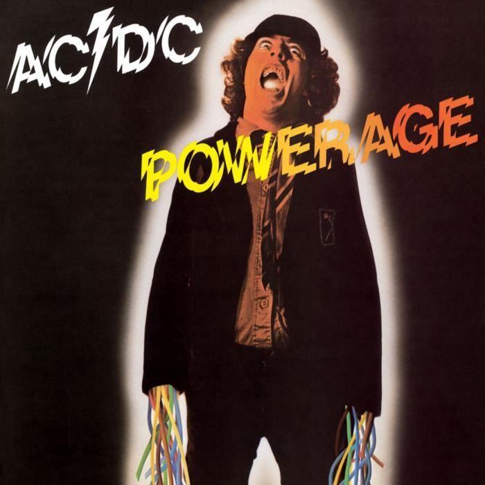 Poster Affiche ACDC Vintage Album Powerage Hard Rock 70's 61cm x 61cm