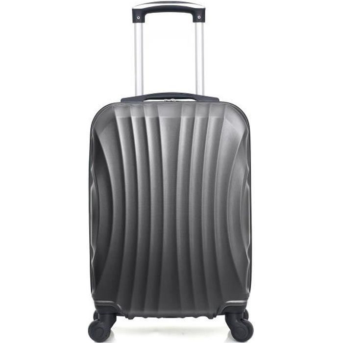 HERO – VALISE CABINE - ABS – 50cm – 4 roues – MOSCOU-A – GRIS FONCE