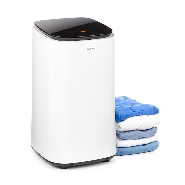 Klarstein Zap Dry Sèche-linge 50 litres 820 watts - Panneau tactile - Noir et blanc