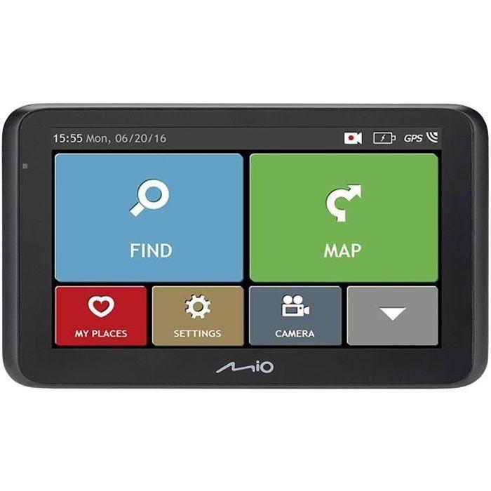 MIO MiVue drive 60 LM GPS voiture - Caméra embarquée full HD - Aide à la conduite - Mise à jour à vie - Enregistrement supérieur