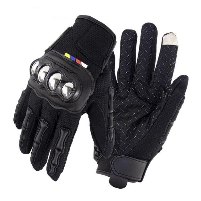 Full Finger Touch Gants de moto Homme de Marque Gants Boîtier en acier inoxydable Anti-dérapant Homme Knight Gants Anti-chute