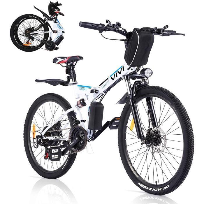 VIVI Vélo Électrique Pliable VTT Électrique-26- Vélo Électrique en Montagne-350W Moteur Vélo électrique pour Adulte vec Batterie