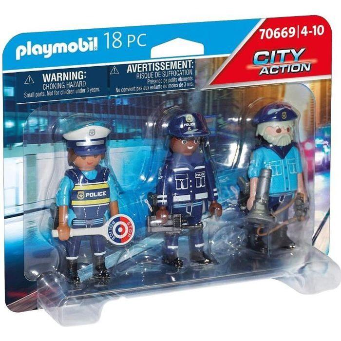 PLAYMOBIL - 70669 - Police Equipe de policiers