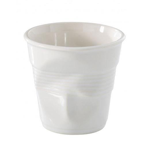 REVOL - ICTC WHITE CRUMPLED ESPRESSO CUP 8CL
