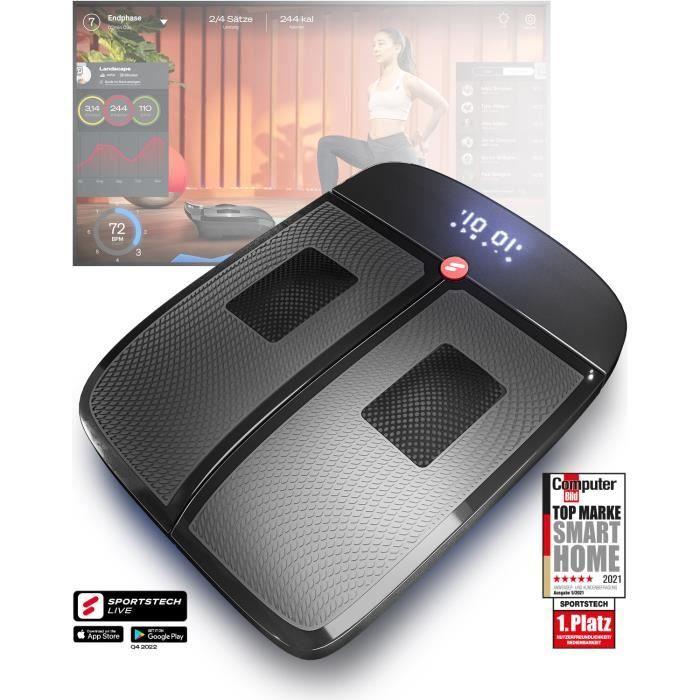 Sportstech VX350 plateforme vibrante 2en1 - vibration et massage au design noble - vibrations 3D stimulent la circulation sanguine