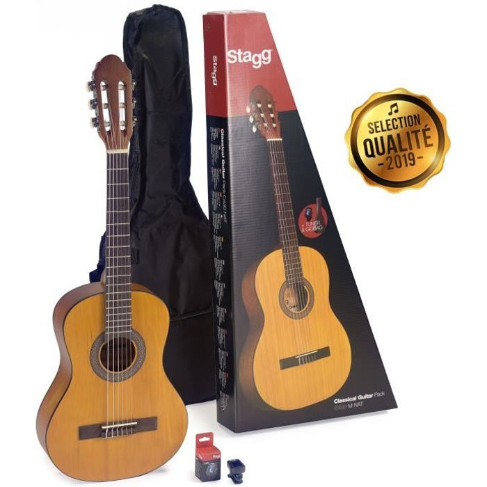 STAGG Pack Complet Guitare Classique C430 PACK 6-10 Ans Naturel