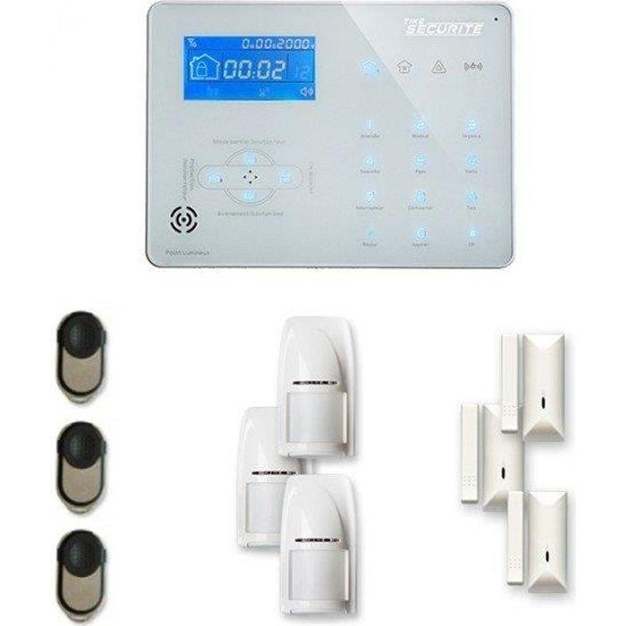 Alarme maison sans fil ICE-B 3 à 4 pièces mouvement + intrusion - Compatible Box