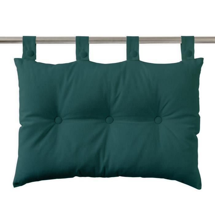 TODAY Coussin tête de lit 100% coton - 50 x 70 cm - Vert émeraude