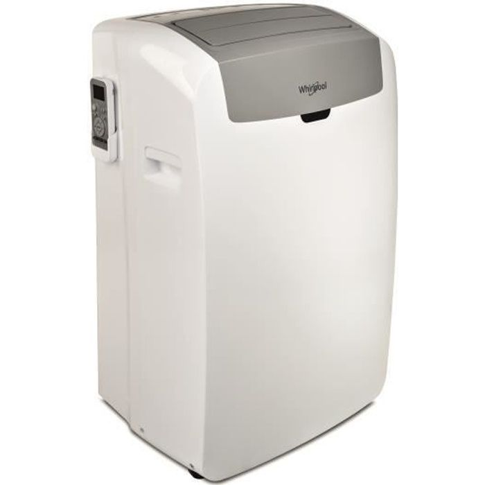 WHiRLPOOL PAC W212CO Climatiseur mobile 3500 watts - 12000 Btu - Programmable - Classe A - Télécommande - 6ème Sens - Purificateur