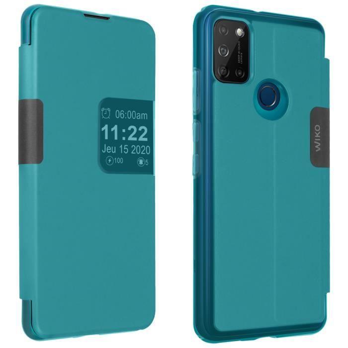Housse Wiko View 5 / 5 Plus Rabat Translucide Tactile Smart Folio Wiko - Bleu