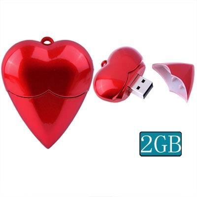 2gb heart style usb2 0 cl clef usb rouge prix pas. Black Bedroom Furniture Sets. Home Design Ideas