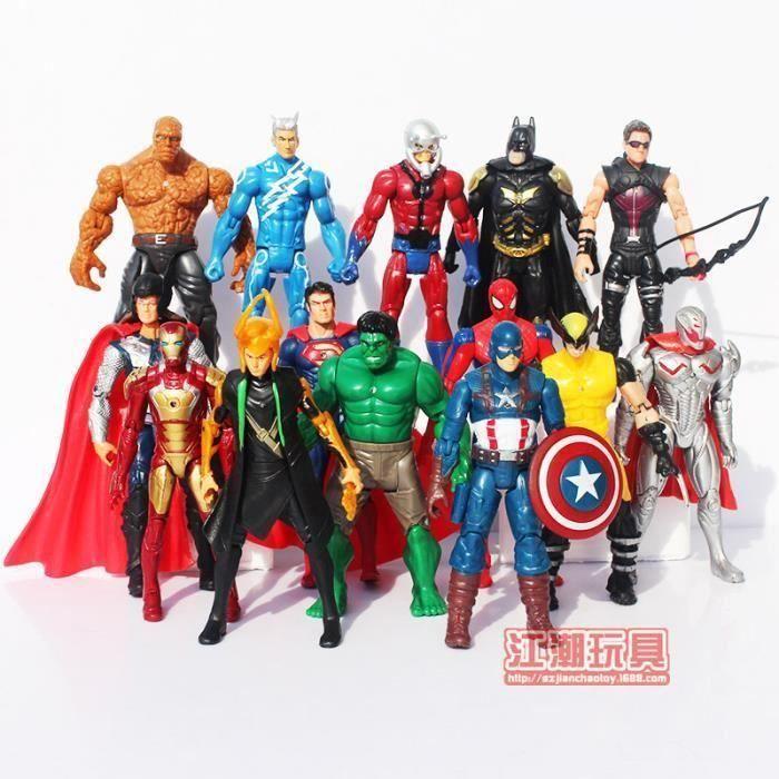 Marvel Avengers Super Héro Hulk Figurines Articulée Jouet Enfants Poupée