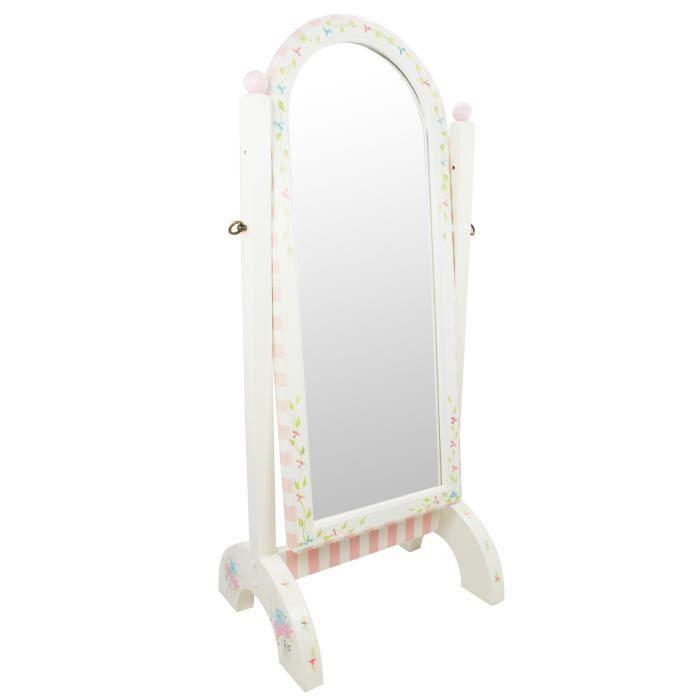 Miroir sur pied inclinable bois décoration intérieur chambre ...