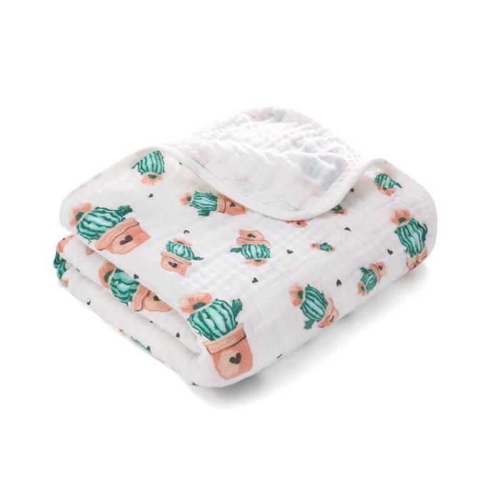 2pcs mousseline bébé langes couverture nouveau-né nourrisson coton