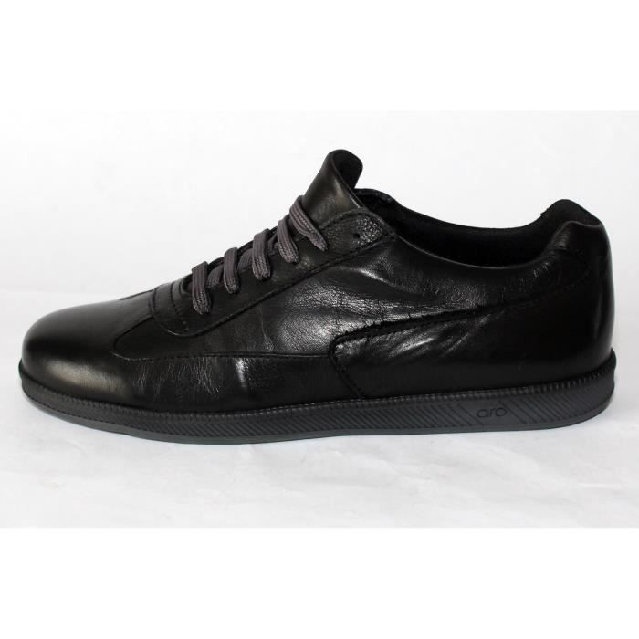 BASKETHOMME CUIR NOIRT 38 NEUVES