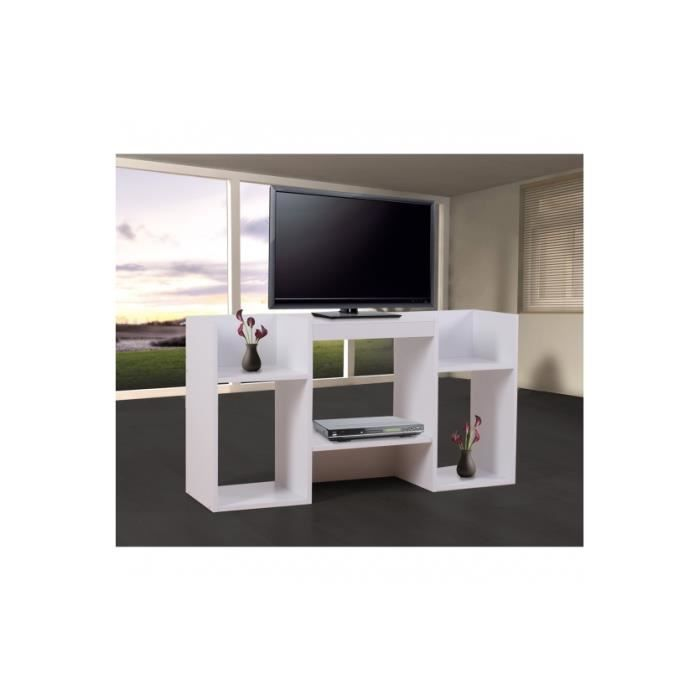 meuble tv tr s moderne avec tag re de rangement achat. Black Bedroom Furniture Sets. Home Design Ideas
