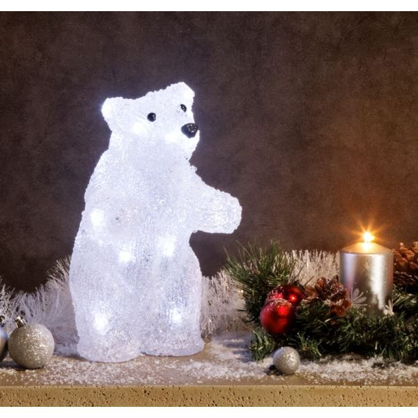 Superbe illumination de no l ours debout lu achat for Illumination exterieur maison