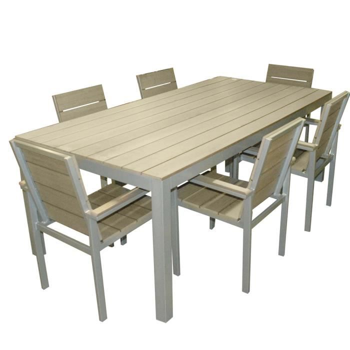 Salon de jardin en aluminium - Ensemble table +… - Achat ...