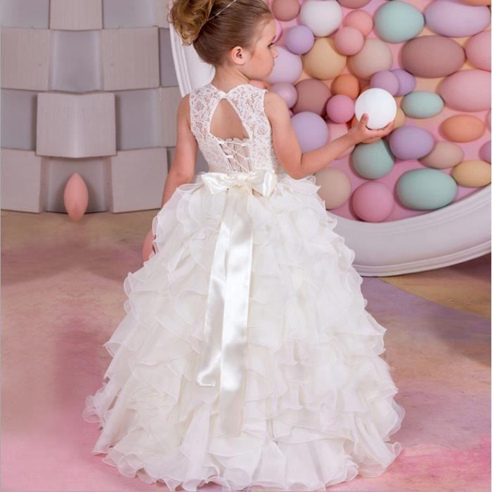 Blanc princesse nuage petite fille de fleurs