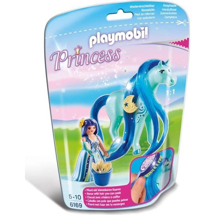 UNIVERS MINIATURE PLAYMOBIL 6169 Princesse Bleuet avec cheval à coif