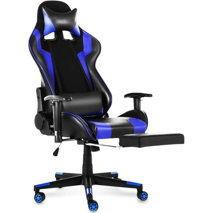 SIÈGE GAMING TEMPSA Chaise Gamer - Réglable 120° - L 54 x P 70