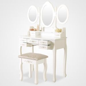 coiffeuse table de maquillage achat vente coiffeuse table de maquillage pas cher cdiscount. Black Bedroom Furniture Sets. Home Design Ideas