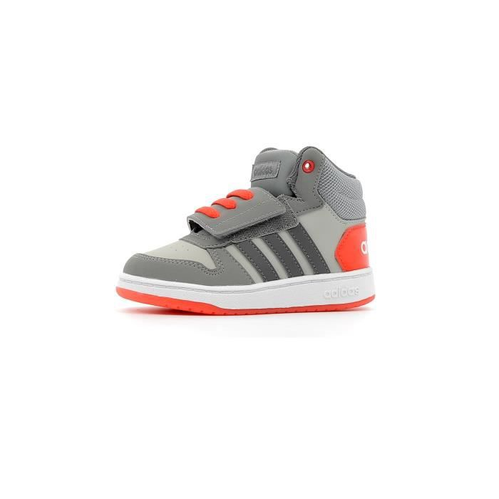 Baskets montante enfants Adidas Hoops Mid 2.0 Inf Children coloris Grey Two - Grey Five - ROHARE